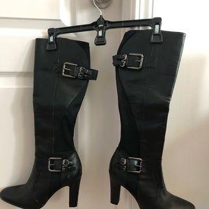 """Boots black 4"""" heel"""